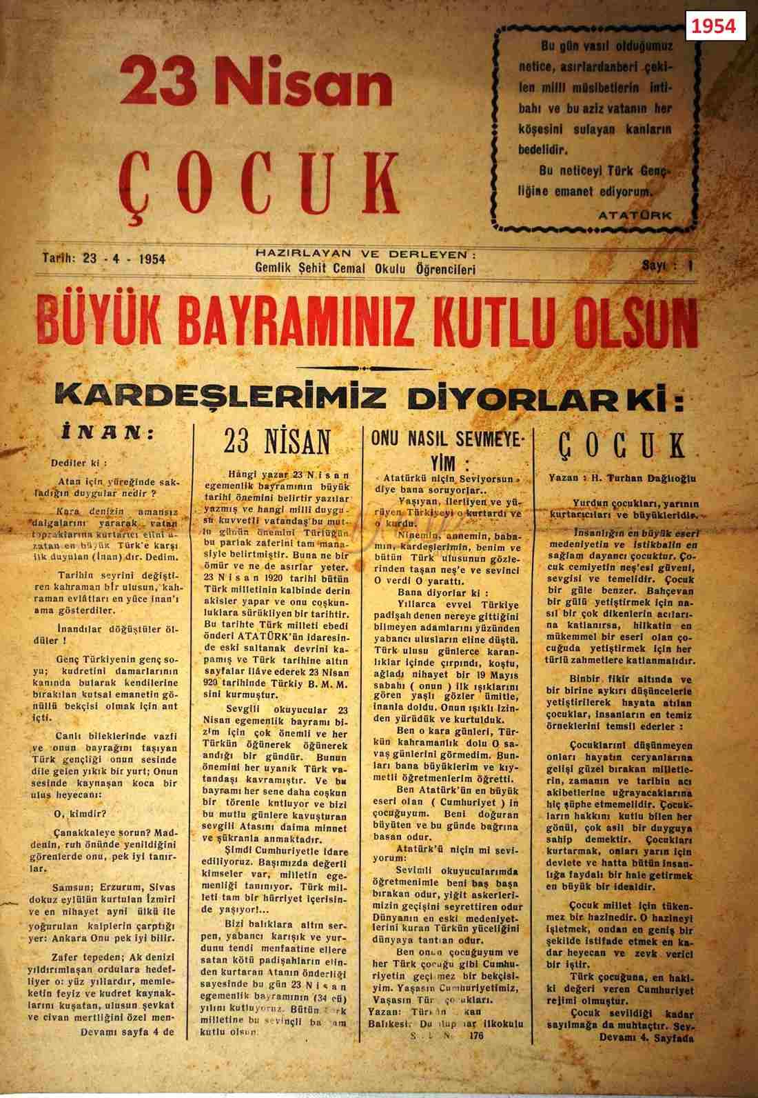 1954 23 nisan çocuk 1