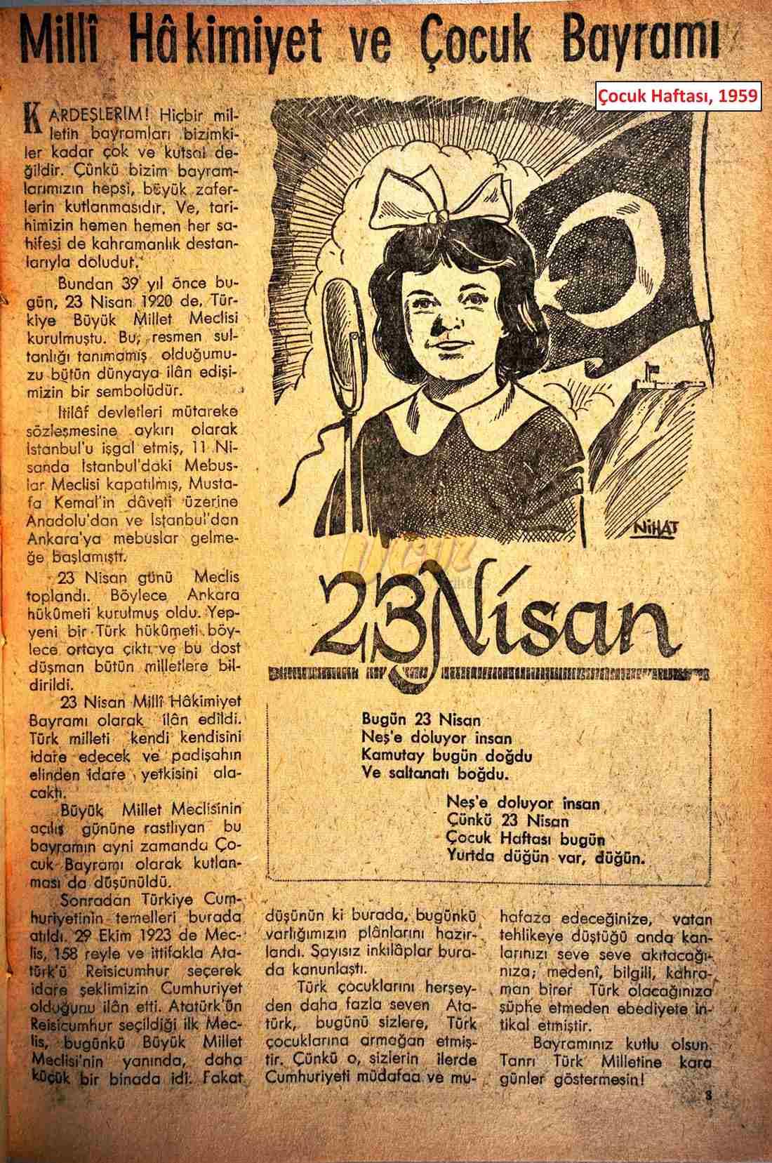 1959 çocuk haftası 2