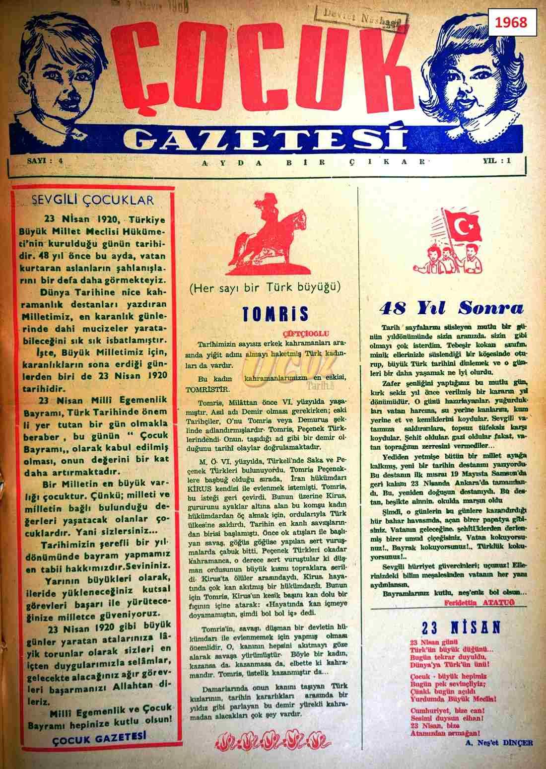 1968 çocuk gazetesi 1