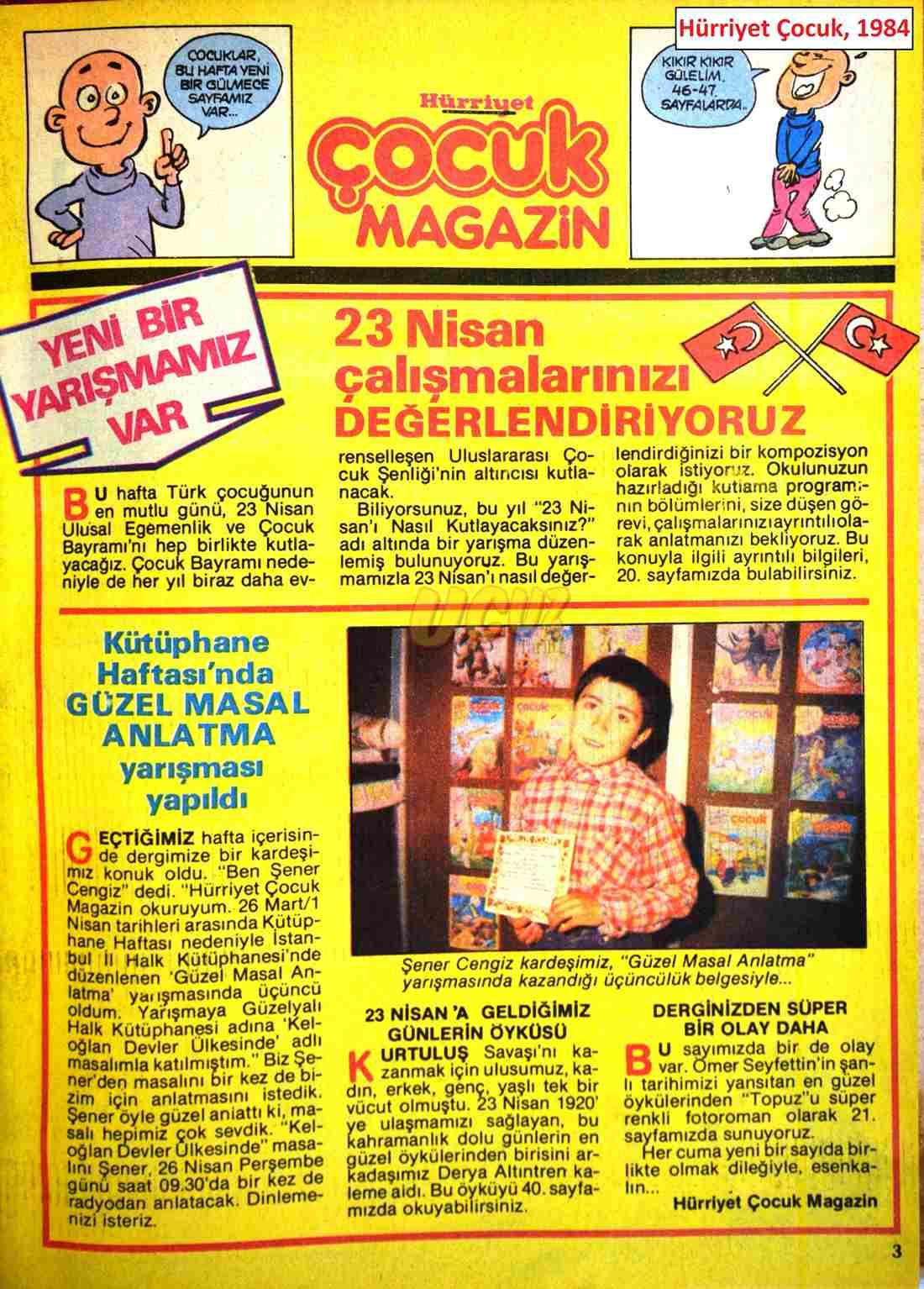 1984 Hürriyet çocuk 1984 2